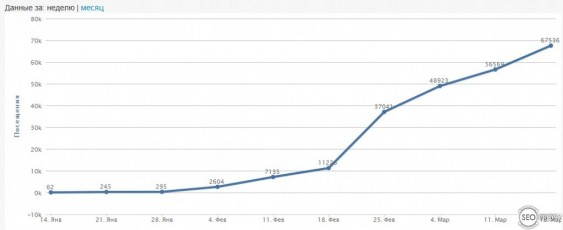 рост трафика на новом сайте