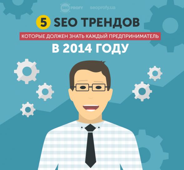 5 SEO трендов 2014 года для каждого предпринимателя