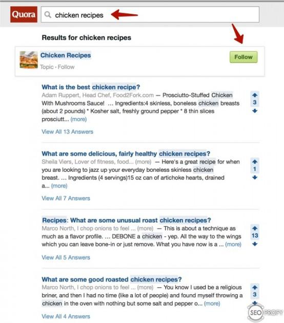 Сбор тем в Quora