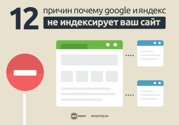 12 причин, почему Google и Яндекс не индексирует ваш сайт