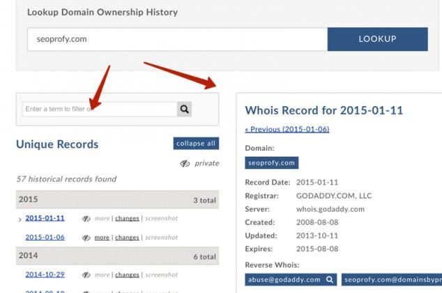 проверка who is домена
