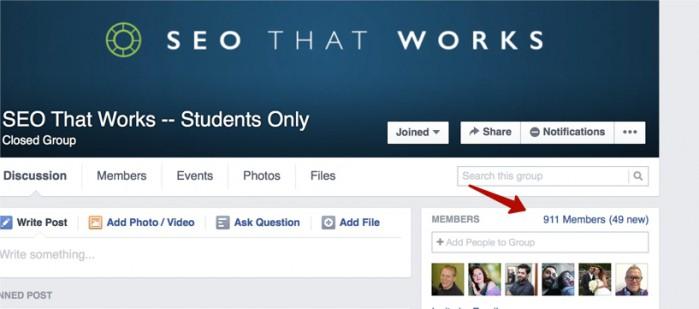 закрытая группа в FB - seothatworks