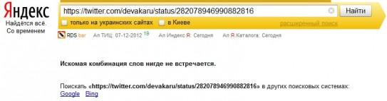 индексация твита