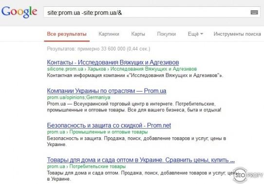 Google - Как найти дубликаты страниц на сайте