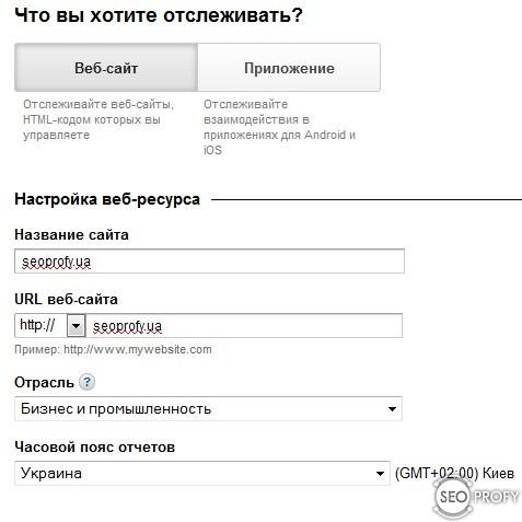 Установка Google Analytics