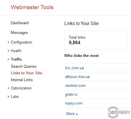 Мониторить Google Webmaster