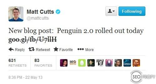 Мэтт Каттс анонс Пингвина в твиттере