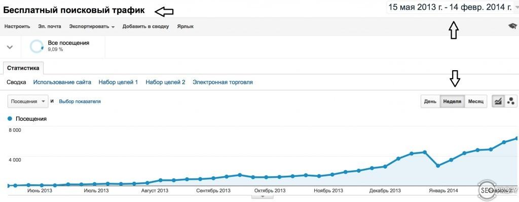 Раскрутка сайта до 1000 посетителей в сутки
