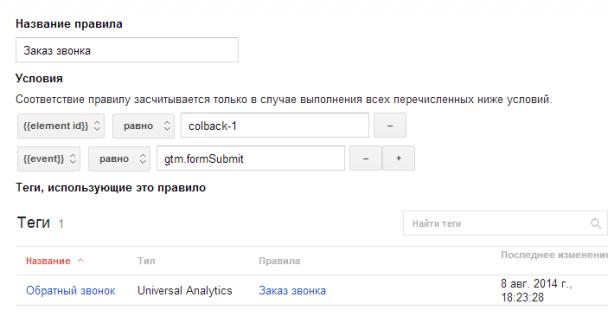 Отслеживание событий с помощью Google Tag Manager