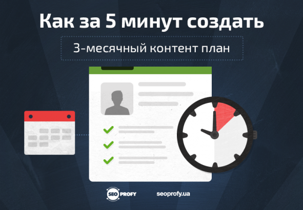 Как за 5 минут создать 3-месячный контент план?