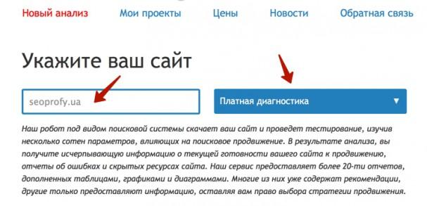 проверка в сервисе saitreport.ru