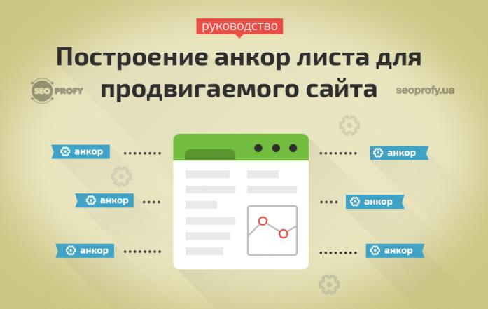 Проектирование анкор листа для продвигаемого сайта – руководство