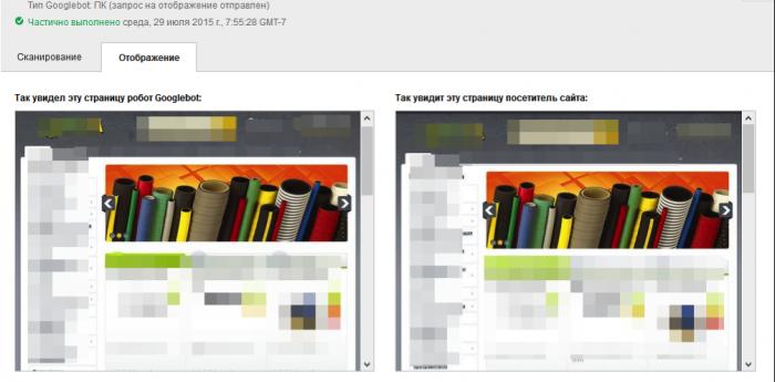 В итоге, мы должны получить нормальное отображение сайта для Googlebot'а