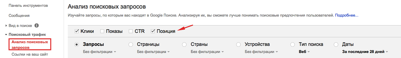 Способ №1 - Google Search Console+SemRush