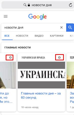 карусель ПС Google