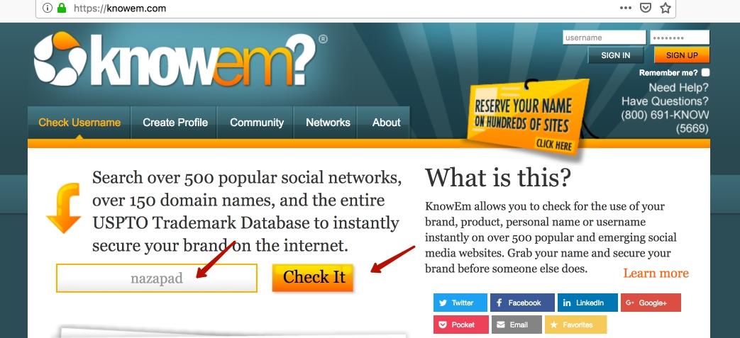 Вводим название вашего сайта/бренда/имя